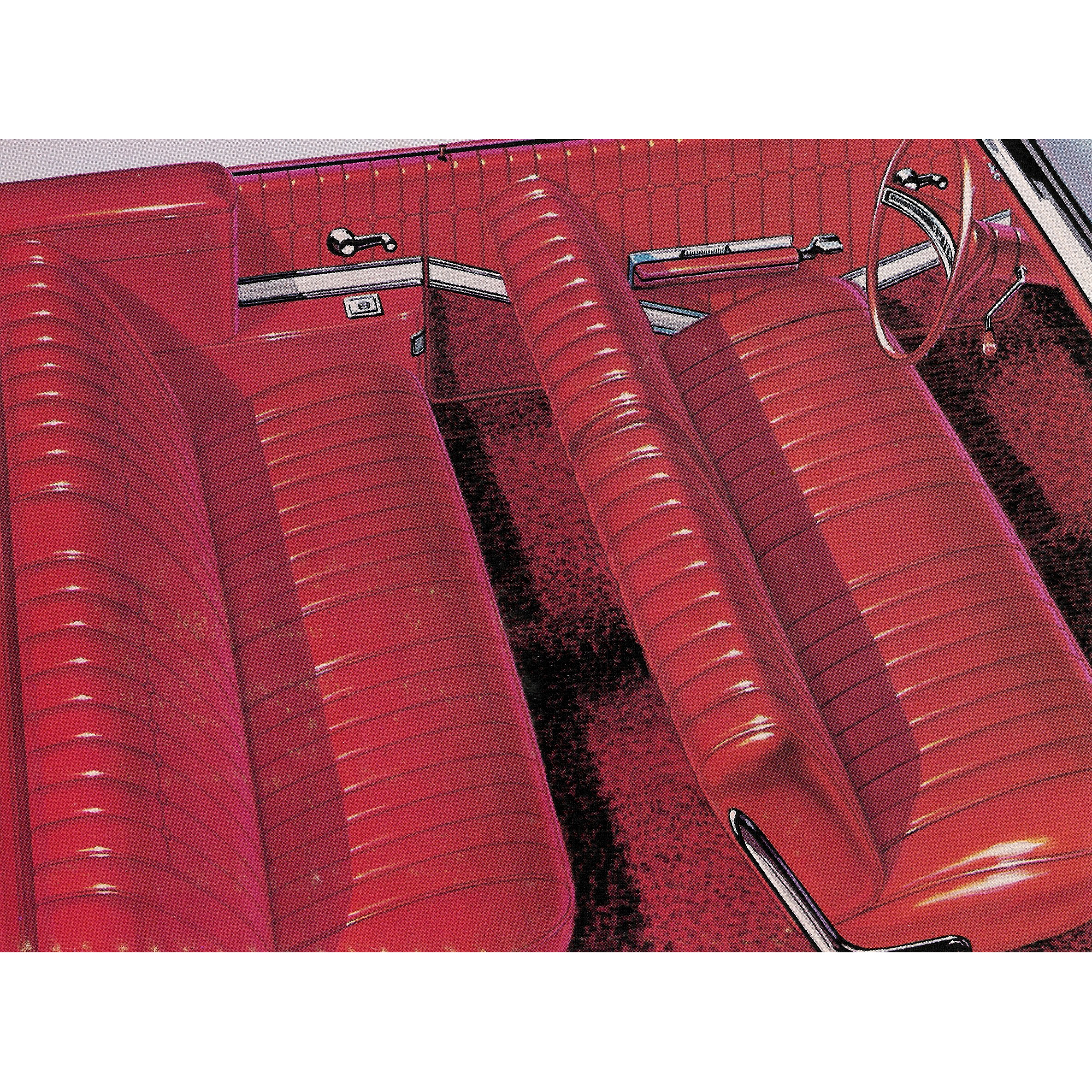 Groovy 64 Skylark Conv Front Split Bench Seat Upholstery Red Machost Co Dining Chair Design Ideas Machostcouk