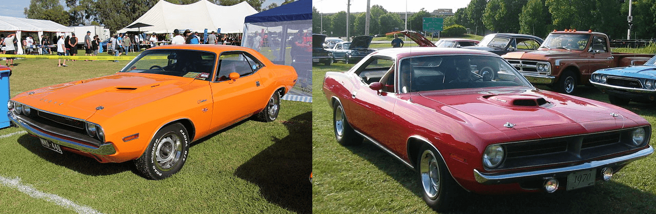 The 1970 Dodge Challenger Vs The 1970 Plymouth Cuda What S The