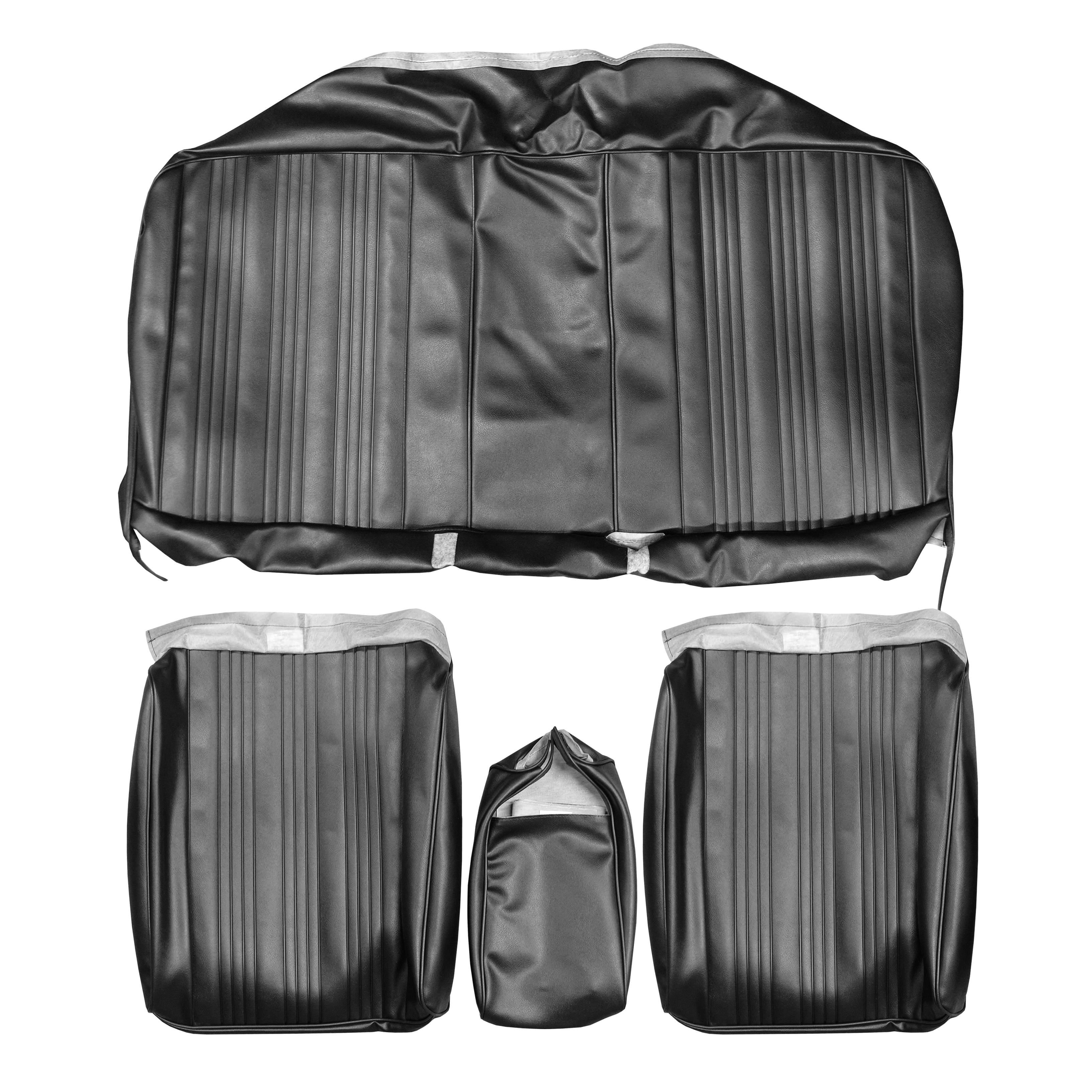 67 GTO/LEMANS SPLIT BENCH W/ CENTER ARMREST - BLACK