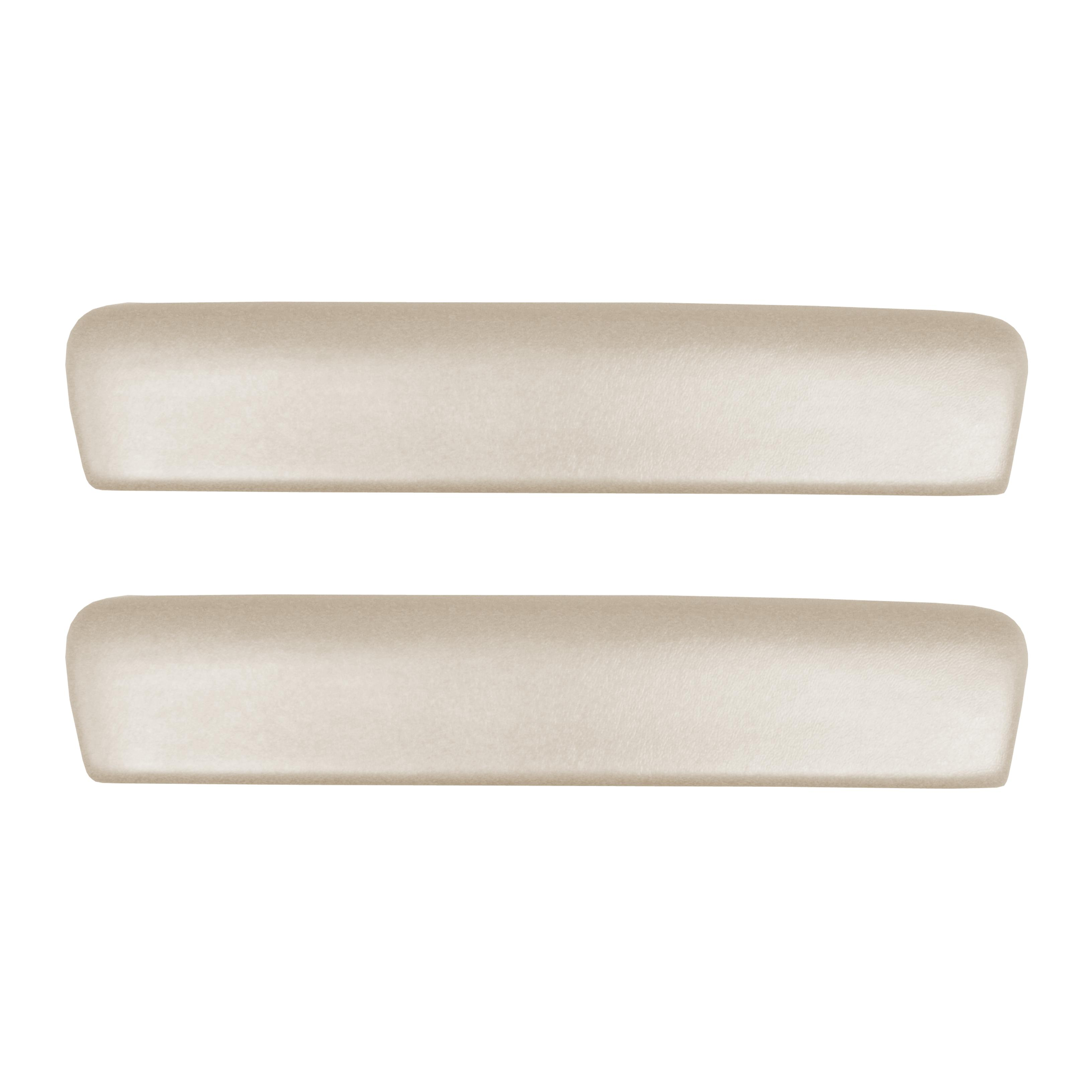 64 GM A-BODY FRONT 11 ARMREST PADS - WHITE SEVILLE