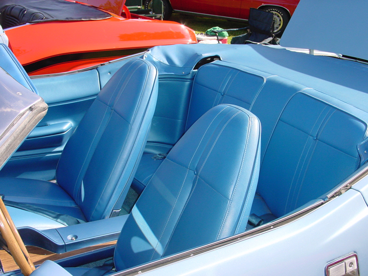 Classic Car Interior Blue Plymouth