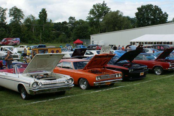 Classic Car Restoration Hoods Open