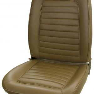 69 AMX LEATHER BUCKET SEAT UPHOLSTERY – SADDLE
