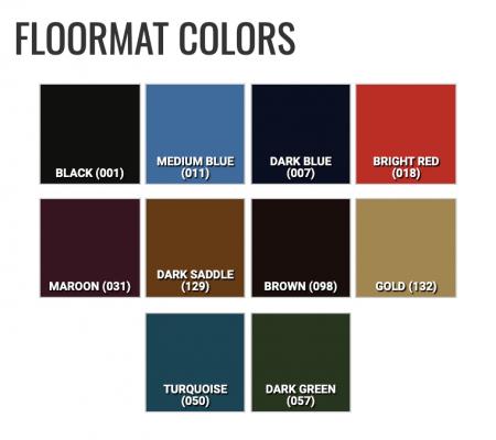 Floormat color option chart
