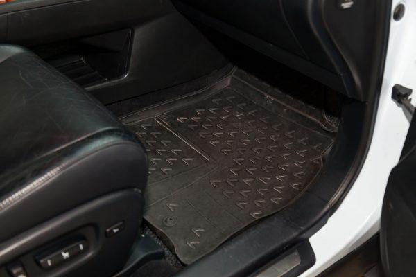 Floor mat in car